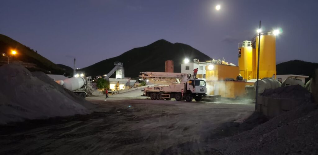 Central Mix Concrete - Plant at Night